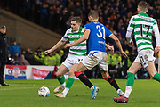 James Forrest of Celtic FC on the ball during the Betfred Scottish League Cup Final match between Rangers and Celtic at Hampden Park, Glasgow, United Kingdom on 8 December 2019.