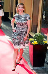 © Licensed to London News Pictures 09/02/2011 London, UK. .Gabby Logan arrives at the Waldorf Hotel, London for the seventh Tesco Mum of the Year Awards..Photo credit : Simon Jacobs/LNP
