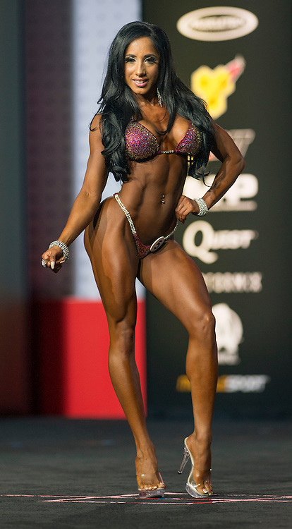 Sept.16, 2016 - Las Vegas, Nevada, U.S. -  NARMIN ASSRIA competes in the Bikini Olympia contest during Joe Weider's Olympia Fitness and Performance Weekend.(Credit Image: © Brian Cahn via ZUMA Wire)