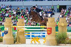 Kevin Staut, (FRA), Reveur De Hurtebise HDC - First Round Team Competition Jumping Speed - Alltech FEI World Equestrian Games™ 2014 - Normandy, France.<br /> © Hippo Foto Team - Leanjo De Koster<br /> 03-09-14