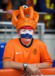 AMSTERDAM, NETHERLANDS - Wednesday, June 4, 2014: A Netherlands supporter during the International Friendly match at the Amsterdam Arena. (Pic by David Rawcliffe/Propaganda)