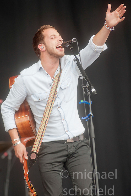 James Morrison plays the main stage on Sunday at T in the Park 2012, held at Balado, in Fife, Scotland.