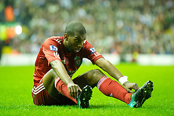 LIVERPOOL, ENGLAND - Wednesday, September 22, 2010: Liverpool's Ryan Babel looks dejected during a frustrating 1-1 draw against Northampton Town during the Football League Cup 3rd Round match at Anfield. (Photo by David Rawcliffe/Propaganda)