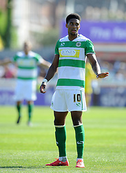 Yeovil Town's Sean Jeffers - Photo mandatory by-line: Harry Trump/JMP - Mobile: 07966 386802 - 08/08/15 - SPORT - FOOTBALL - Sky Bet League Two - Exeter City v Yeovil Town - St James Park, Exeter, England.
