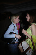 Ticky Hedley-Dent and Henrieta Dups. 'Polo' party  at The Westbury Hotel, Bond Street, London W1 on 26th April 2005.ONE TIME USE ONLY - DO NOT ARCHIVE  © Copyright Photograph by Dafydd Jones 66 Stockwell Park Rd. London SW9 0DA Tel 020 7733 0108 www.dafjones.com