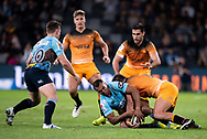 SYDNEY, AUSTRALIA - MAY 25: Waratahs player Kurtley Beale (15) holds onto the ball at week 15 of Super Rugby between NSW Waratahs and Jaguares on May 25, 2019 at Western Sydney Stadium in NSW, Australia. (Photo by Speed Media/Icon Sportswire)