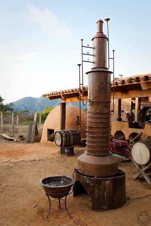 """Tequila Distillery""- Tequila distillery and earthen agave oven used in the tequila and ricea making process. Photographed near San Sebastian, Mexico."