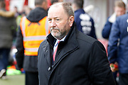 Cheltenham Town manager Gary Johnson during the EFL Sky Bet League 2 match between Crawley Town and Cheltenham Town at the Checkatrade.com Stadium, Crawley, England on 24 March 2018. Picture by Andy Walter.