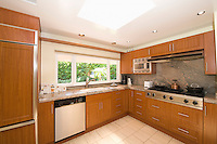 Wooden fitted kitchen units