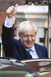 July 23, 2019, London, UK: BORIS JOHNSON gives a thumbs-up as he leaves Conservative Party Headquarters in Westminster. He has been elected as Leader of the Conservative Party and will become the next Prime Minister. (Credit Image: © Rob Pinney/London News Pictures via ZUMA Wire)