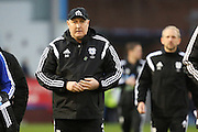 Cardiff City manager Russell Sladeduring the Sky Bet Championship match between Burnley and Cardiff City at Turf Moor, Burnley, England on 5 April 2016. Photo by Simon Brady.