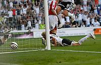 Photo: Steve Bond/Richard Lane Photography. Derby County v Sheffield United. Coca-Cola Championship. 13/09/2008. Paul Green (ground) scores for Derby