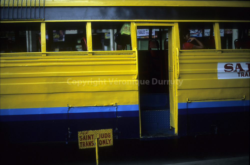 BUS AT THE BUS STATION,  CEBU CITY, CEBU ISLAND, THE PHILIPPINES