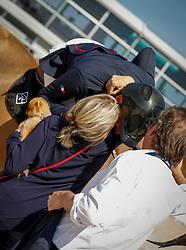 Delaveau Patrice, FRA, Aquila Hdc, Emanuelle Perron-Pette, Armand Pette<br /> Grand Prix Longines Ville de La Baule 2018<br /> © Dirk Caremans<br /> 18/05/2018