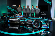 Panasonic Jaguar Racing announce their new driver lineup. Mitch Evans of New Zealand (second from right).<br /> Panasonic Jaguar Racing - CHARGE LIVE EVENT at Whitely Engineering Centre, Warwickshire, UK on Thursday 21 September 2017<br /> Photo: LAT / Panasonic Jaguar Racing