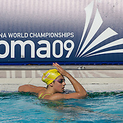 Stephanie Rice training with the Australian swim team in preparation for the World Swimming Championships in Rome on Saturday, July 25, 2009. Photo Tim Clayton.