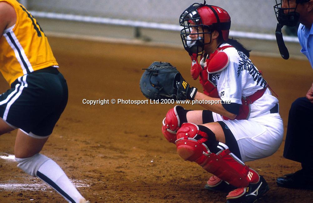 Helen Townsend from the NZ Womens Softball team, during a match between NZ v Australia, 2000. Photo: PHOTOSPORT