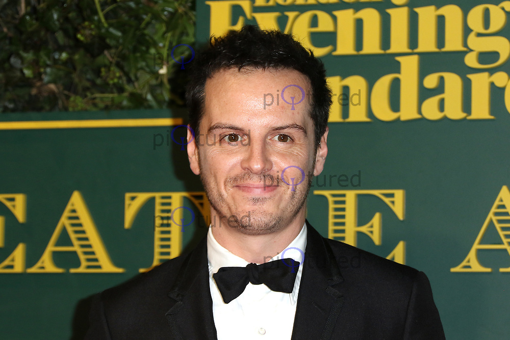 Andrew Scott, London Evening Standard Theatre Awards, Theatre Royal Drury Lane, London UK, 03 December 2017, Photo by Richard Goldschmidt