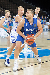 06.09.2015, Park Suites Arena, Montpellier, FRA, Finnland vs Israel, Gruppe A, im Bild SASU SALIN (9), GAL MEKEL (7) // during the FIBA Eurobasket 2015, group A match between Finland and Israel at the Park Suites Arena in Montpellier, France on 2015/09/06. EXPA Pictures © 2015, PhotoCredit: EXPA/ Newspix/ Pawel Pietranik<br /> <br /> *****ATTENTION - for AUT, SLO, CRO, SRB, BIH, MAZ, TUR, SUI, SWE only*****