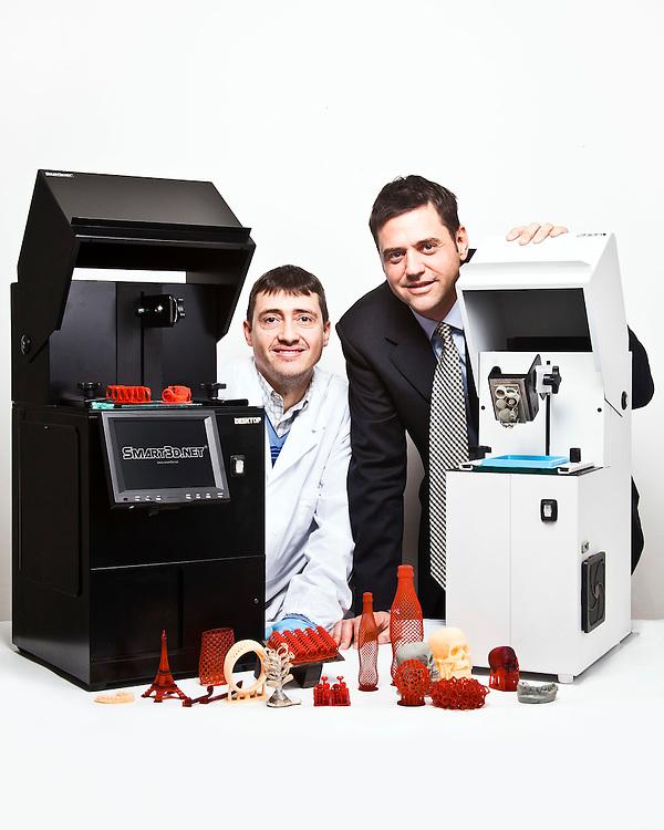 Dotta Andrea e Giè Andrea, proprietari della Smart3d, azienda che produce macchine e software per la stampa 3d. Valenza, AL.