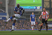 Everton forward Arouna Kone scores  during the Barclays Premier League match between Everton and Sunderland at Goodison Park, Liverpool, England on 1 November 2015. Photo by Simon Davies.