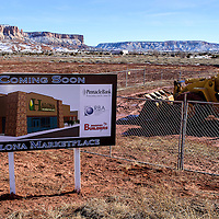 A sign marks the future site of the new Halona Marketplace in Zuni Wednesday.