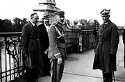marshall Josef Pi?sudski on the Poniatowski Bridge, Warsaw, 12 May 1926, during the May Coup d' État. Also present (right) is At right is General Gustaw Orlicz-Dreszer.