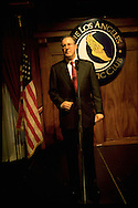 Presidential candidate Steve Forbes at a press conference. LA Athletic Club.