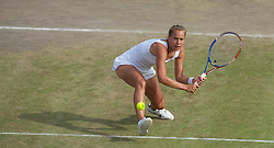 LONDON, ENGLAND - Tuesday, June 29, 2010: Barbora Zahlavova Strycova (CZE) during the Ladies' Doubles 3rd Round match on day eight of the Wimbledon Lawn Tennis Championships at the All England Lawn Tennis and Croquet Club. (Pic by David Rawcliffe/Propaganda)
