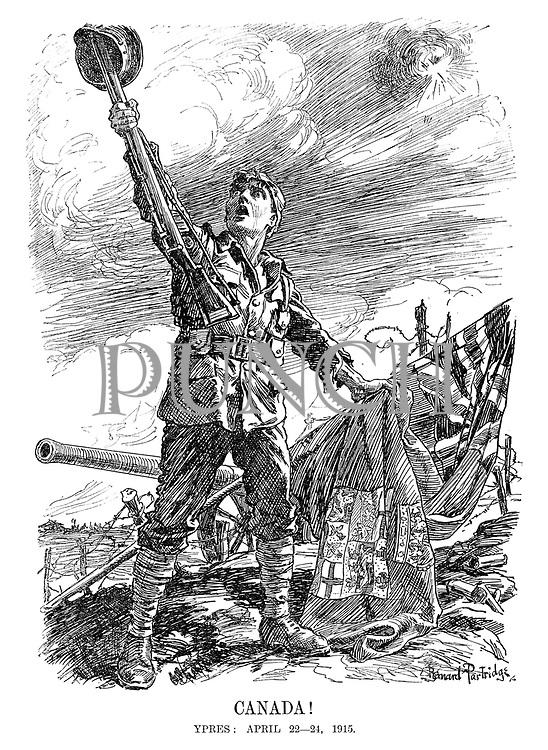 Canada! Ypres: April 22 - 24, 1915.