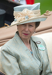 HRH The Princess Royal in the parade ring at Royal Ascot 2013,<br /> Ascot, United Kingdom,<br /> Thursday, 20th June 2013<br /> Picture by i-Images