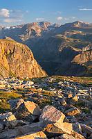Beartooth Mountains seen from Beartooth Pass, Custer Gallatin National Forest Montana