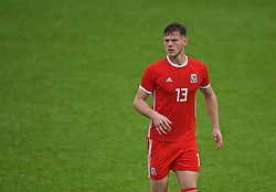 NEWPORT, WALES - Monday, October 14, 2019: Wales' Joe Low during an Under-19's International Friendly match between Wales and Austria at Dragon Park. (Pic by David Rawcliffe/Propaganda)