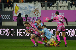 January 5, 2019 - Paris, France - Stade Francais scrum half CLEMENT DAGUIN in action during the French rugby championship Top 14 match between Stade Francais and  Perpignan  at Jean Bouin Stadium in Paris - France..Stade Franais won 27-8 (Credit Image: © Pierre Stevenin/ZUMA Wire)