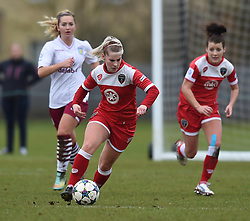 Bristol Academy's Nikki Watts in action during the pre-season friendly between Bristol Academy Women and Aston Villa Ladies at Stoke Gifford Stadium on 1 March 2015 in Bristol, England - Photo mandatory by-line: Paul Knight/JMP - Mobile: 07966 386802 - 01/03/2015 - SPORT - Football - Bristol - Stoke Gifford Stadium - Bristol Academy Women v Aston Villa Ladies - Pre-season friendly