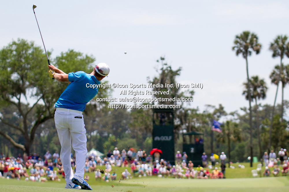 May 08, 2014: Jonas Blixt hits his approach to number 2 during first round play of The Players Championship at the TPC Sawgrass in Ponte Vedra Beach, Fl.