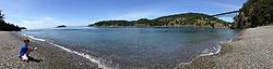 Max at Deception Pass (Panorama), Whidbey Island, WA