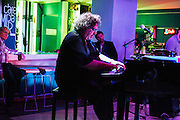 Havana, Cuba: Gabriel Hernandez plays piano at Cafe Miramar jazz club in Miramar section of Havana (Photo: Ann Summa).