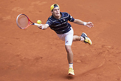 May 9, 2018 - Madrid, Spain - Argentine Diego Schwartzman during Mutua Madrid Open 2018 at Caja Magica in Madrid, Spain. May 09, 2018. (Credit Image: © Coolmedia/NurPhoto via ZUMA Press)