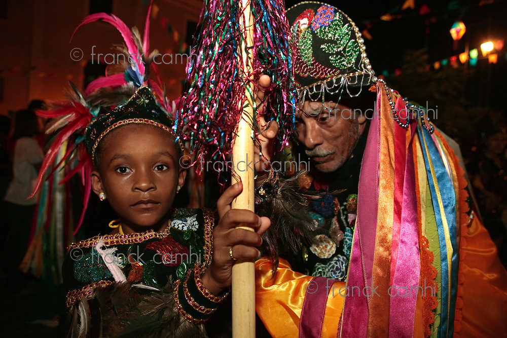 Sao Luis Do Maranhao, Brazil - June 22, 2013: musicians at Bumba Meu Boi festival music celebration
