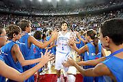 DESCRIZIONE : Roma Amichevole preparazione Eurobasket 2007 Italia Grecia <br /> GIOCATORE : Gianluca Basile<br /> SQUADRA : Nazionale Italia Uomini <br /> EVENTO : Amichevole preparazione Eurobasket 2007 Italia Grecia <br /> GARA : Italia Grecia <br /> DATA : 30/08/2007 <br /> CATEGORIA : presentazione<br /> SPORT : Pallacanestro <br /> AUTORE : Agenzia Ciamillo-Castoria/G.Pappalardo Galleria : Fip Nazionali 2007 Fotonotizia : Roma Amichevole preparazione Eurobasket 2007 Italia Grecia Predefinita : si
