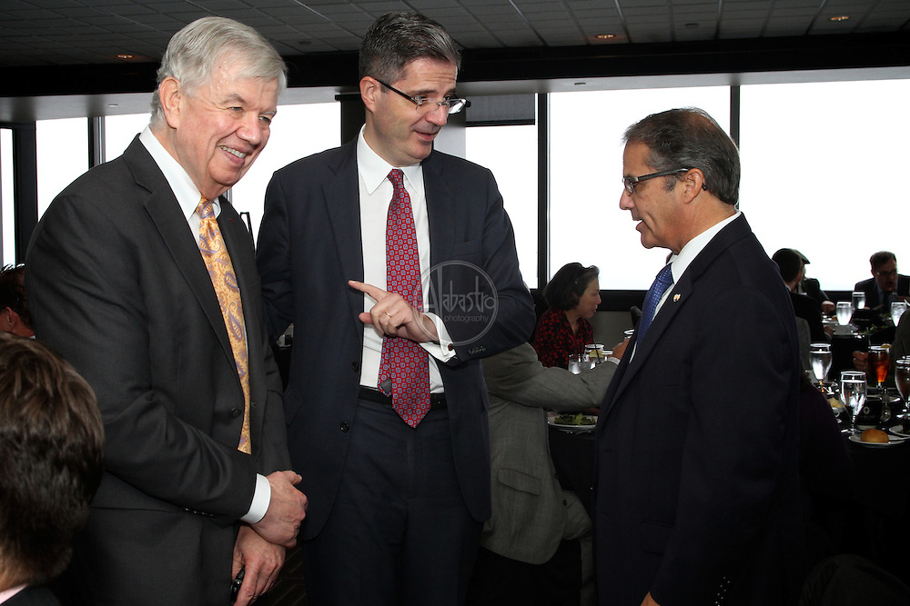 French American Chamber of Commerce Luncheon with François Delattre (Ambassador of France to the United States) and Romain Serman (Consul General of France in San Francisco), Oct 2012, Seattle.