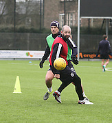 Dundee new boy Darren O&rsquo;Dea and  Gary Harkins - Dundee FC training <br /> <br />  - &copy; David Young - www.davidyoungphoto.co.uk - email: davidyoungphoto@gmail.com