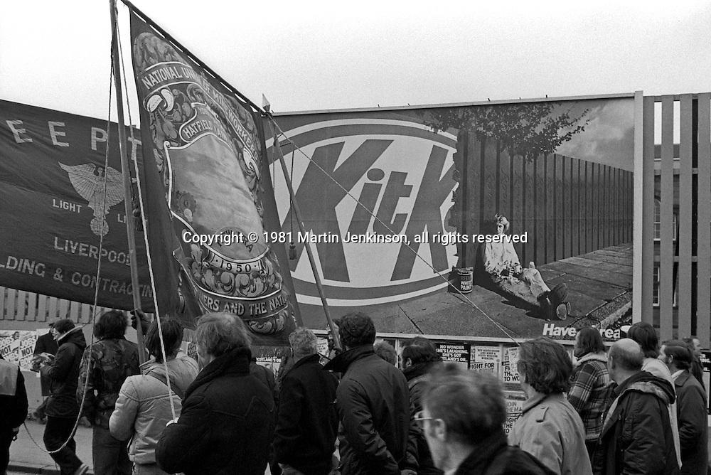 Unemployment protest march , Glasgow 1981