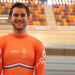 04-04-2017: Wielrennen: Persmoment KNWU: Apeldoorn<br /> APELDOORN (NED) baanwielrennen  <br /> Theo Bos is een van de Nederlandse speerpunten voor het wereldkampioenschap baan in Hong Kong