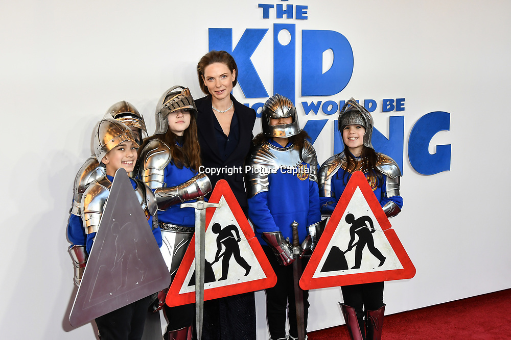 Rebecca Ferguson Arrives at The Kid Who Would Be King on 3 February 2019 at ODEON Luxe Leicester Square, London, UK.