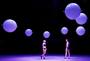 Wayne McGregor's +/- Human <br /> A new installation by Random International curated by Wayne McGregor part of Bloomberg Summer at the Roundhouse, Chalk Farm, London, Great Britain <br /> 9th August 2017 <br /> <br /> <br /> Rebecca Bassett-Graham (Company Wayne McGregor)<br /> <br /> Calvin Richardson (Royal Ballet) <br /> <br /> Photograph by Elliott Franks <br /> Image licensed to Elliott Franks Photography Services
