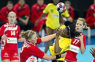 London Handball Cup - Angola vs Austria  -  Marcelina Kiala (ANG), Stefanie Kaiser (AUT)