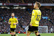 Burton Albion striker Jamie Ward (12) scores for Burton Albion and celebrates making the score 1-1during the EFL Sky Bet Championship match between Aston Villa and Burton Albion at Villa Park, Birmingham, England on 26 December 2016. Photo by Richard Holmes.
