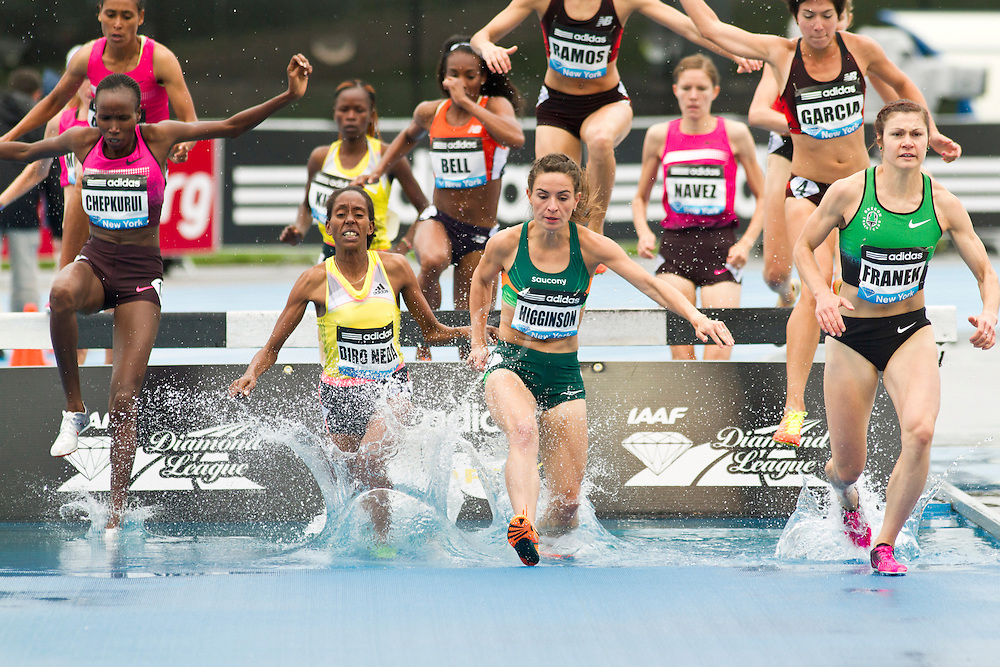 adidas Grand Prix Diamond League professional track & field meet: womens 3000 meter steeplechase,